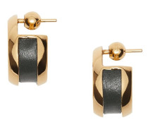 Ohrringe mit Lederdetail