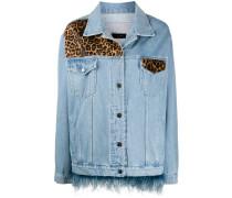 Jeansjacke mit Leoparden-Print