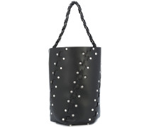 Medium Studded Hex Bucket Bag