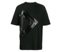T-Shirt mit Metallic-Einsatz