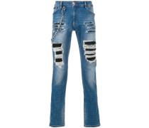 ripped biker jeans