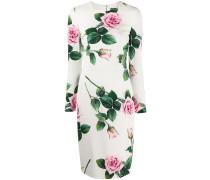 'Cady' Kleid mit tropischem Print