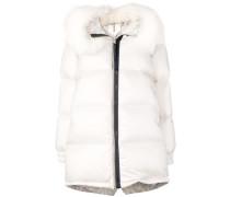 zipped puffer jacket
