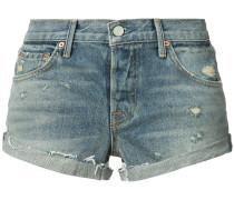 Jeansshorts mit Distressed-Optik