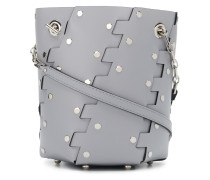 Mini Studded Hex Bucket Bag