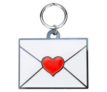 envelope heart keyring