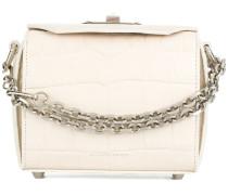 'Box' Handtasche mit Krokodilleder