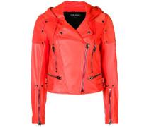 biker cropped jacket