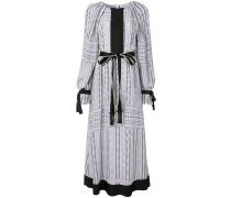 silk chevron print dress