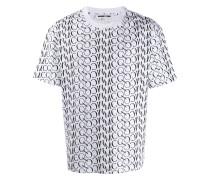 Oversized-T-Shirt mit Monogramm
