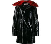 double buttoned raincoat