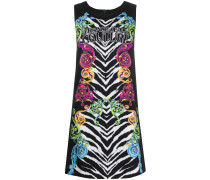 zebra print digital baroque vest dress