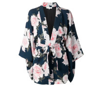 Haori-Kimono mit Blumen-Print