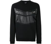 chest zipped pockets sweatshirt