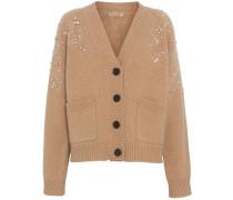 Crystal-embellished Merino Wool Cardigan