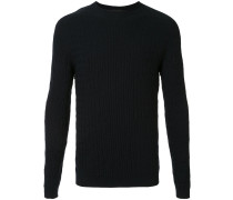 Jacquard-Pullover mit Kroko-Effekt