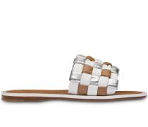 Sandalen in Weboptik