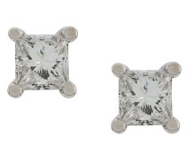 18kt white gold Dots Solitare princess diamond stud earrings