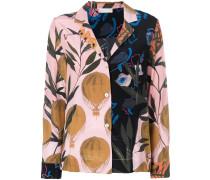 balloon print blouse