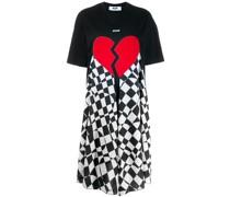 T-Shirtkleid mit Herzmuster