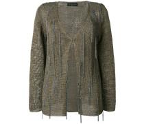 embellished knitted cardigan