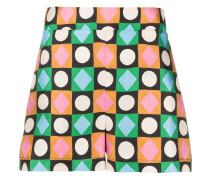 Shorts mit geometrischem Print