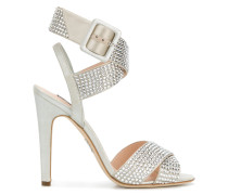 strappy crystal embellished sandals
