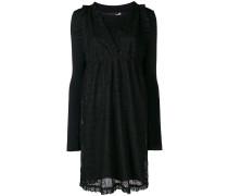 layered lace midi dress