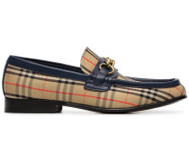 beige Moorley checked loafers