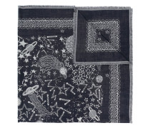 Schal mit Weltraum-Print