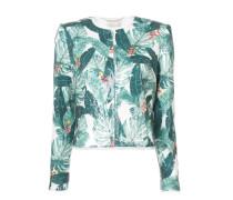 leaf print jacket