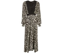 Langärmeliges Kleid mit Punkten