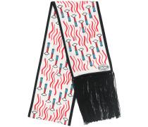 Halstuch mit Lippenstift-Print