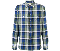 check print patch pocket shirt