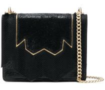 embellished panelled shoulder bag