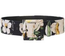 Gürtel mit Blumen-Print