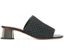 woven effect mules