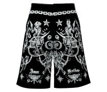 tattoo print Bermuda shorts