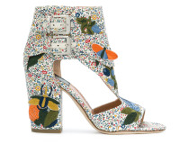 embroidered high hell sandals