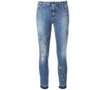 Verzierte Cropped-Jeans