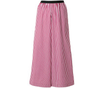 striped cropped palazzo trousers