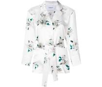 Seiden-Blazer mit floralem Print