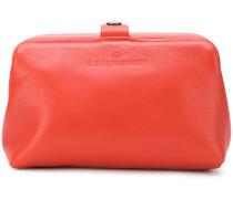 brand embossed makeup bag