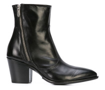 Rocco P. double zip ankle boots