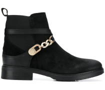 chain embellished ankle boots