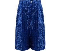 Shorts mit Paillettenstickerei
