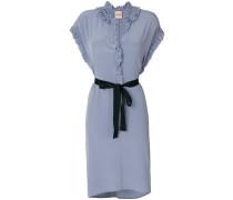 frill-trim dress