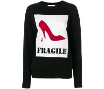 'Fragile' Intarsien-Pullover