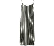 striped midi slip dress