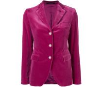 velvet fitted blazer